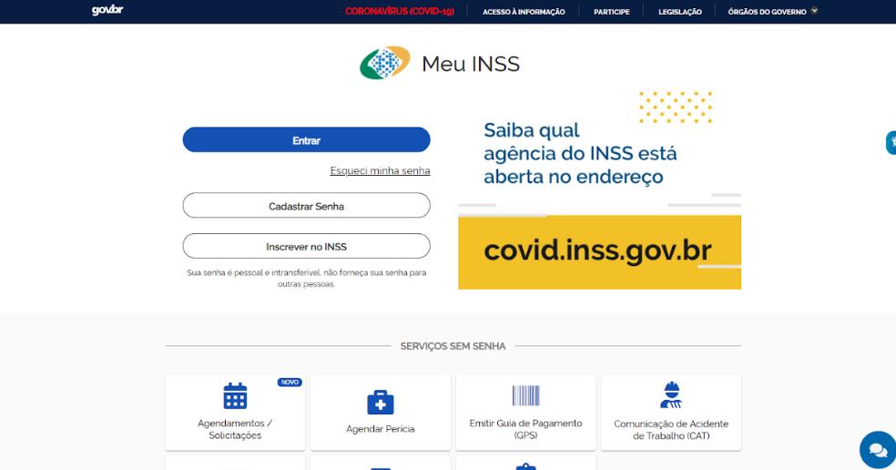 Como fazer acesso no site Meu INSS.