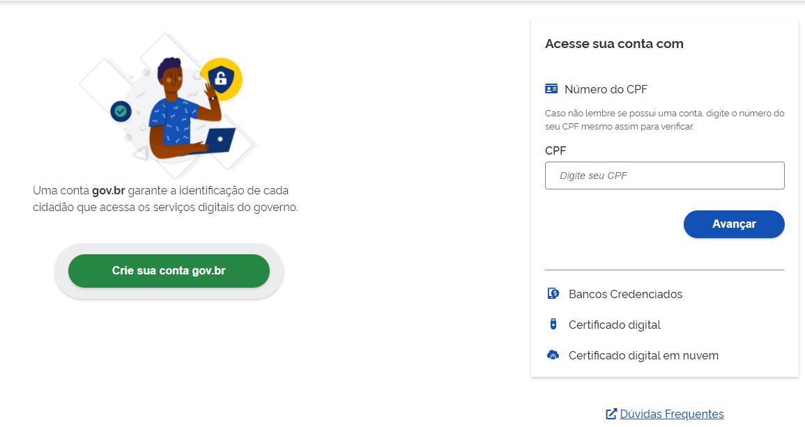 Você precisa fazer seu cadastramento no site Emprega Brasil.
