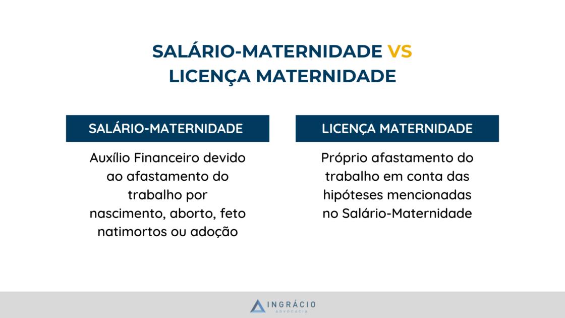 Diferença entre salário-maternidade e licença maternidade