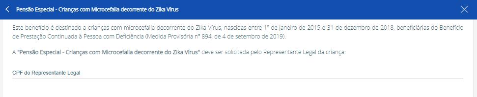 solicitar pensão zika vírus