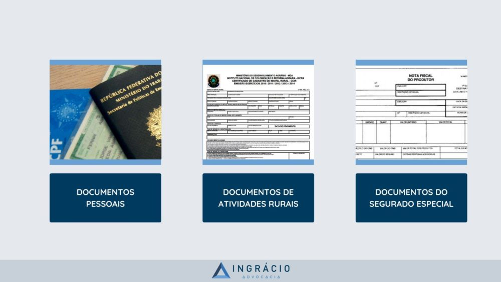 Documentos para aposentadoria rural.