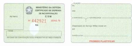 Certificado de reservista serve como documento para se aposentar