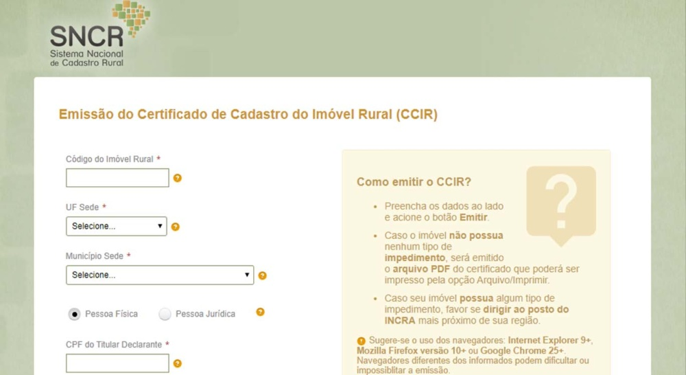 Certidão do INCRA serve como documento para se aposentar na modalidade rural